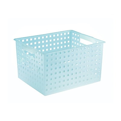 InterDesign Household Storage Basket, Large, Water (61873)