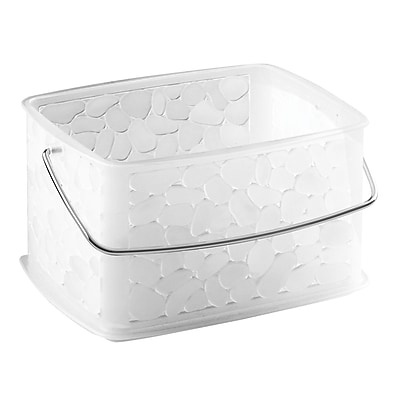 InterDesign Pebblz Small Basket, Plastic, Clear (79530)