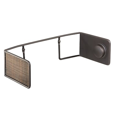 InterDesign Twillo Wall-Mount/Under-Cabinet Paper Towel Holder for Kitchen, Bronze (71510)