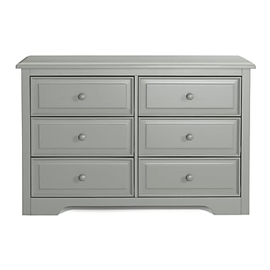 Graco 6-Drawer Double Dresser, Grey