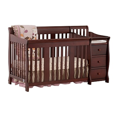 Stork Craft Portofino 4-in-1 Convertible Crib, Cherry