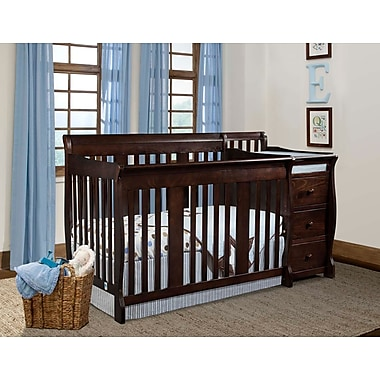 Stork Craft Portofino 4-in-1 Convertible Crib, Espresso