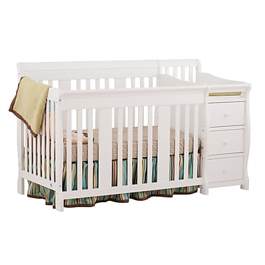 Stork Craft Portofino 4-in-1 Convertible Crib, White