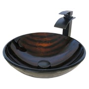Novatto Mimetica Glass Circular Vessel Bathroom Sink