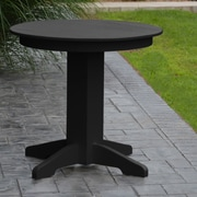 A&L Furniture Dining Table; Black