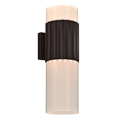 PLC Lighting Wallyx 2-Light Outdoor Sconce; Oil Rubbed Bronze