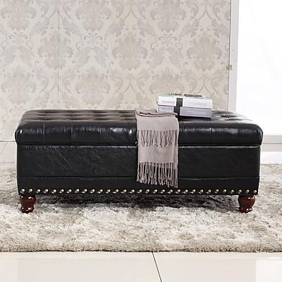 Bellasario Collection Elegant Classic Tufted Wood Storage