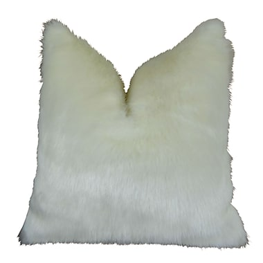 Plutus Brands Arctic Fox Handmade Throw Pillow ; 24'' H x 24'' W