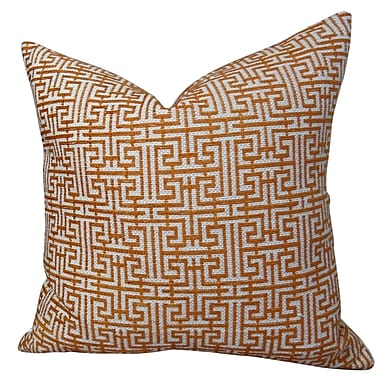 Plutus Brands Maze Handmade Throw Pillow ; 24'' H x 24'' W