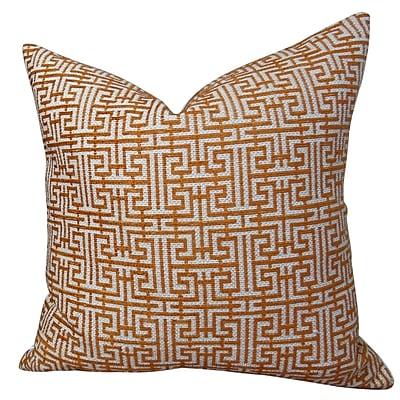 Plutus Brands Maze Handmade Throw Pillow ; 20'' H x 20'' W