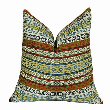 Plutus Brands Fun Stripes Handmade Throw Pillow ; 26'' H x 26'' W