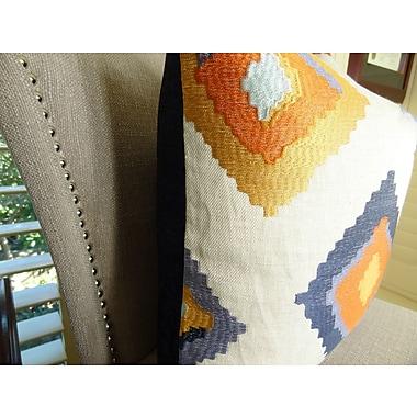 Plutus Brands Native Trail Cayenne Handmade Linen Throw Pillow ; 20'' H x 20'' W