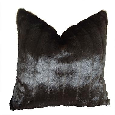 Plutus Brands Tip Dyed Mink Handmade Throw Pillow ; 18'' H x 18'' W