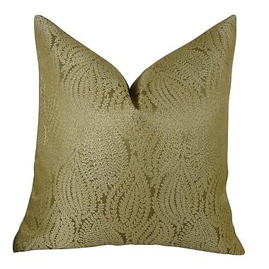 Plutus Brands Leaf Pod Handmade Throw Pillow ; 20'' H x 20'' W