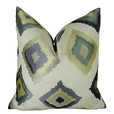 Plutus Brands Native Trail Dew Handmade Linen Throw Pillow ; 16'' H x 16'' W