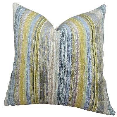 Plutus Brands Spoft Strie Cornflower Handmade Throw Pillow ; 20'' H x 20'' W