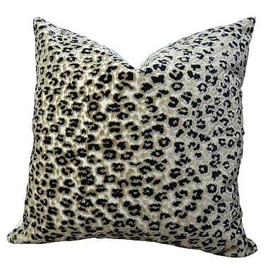 Plutus Brands Cheetah Handmade Throw Pillow ; 16'' H x 16'' W