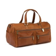 Claire Chase Leisure 20'' Weekender Duffel; Saddle