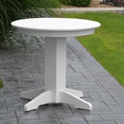 A&L Furniture Dining Table; White