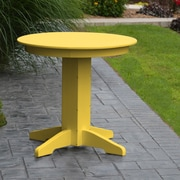 A&L Furniture Dining Table; Lemon Yellow