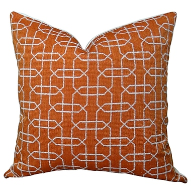 Plutus Brands Ardmore Persimmon Handmade Throw Pillow ; 20'' H x 20'' W