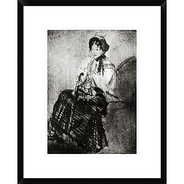 Global Gallery The Umbrella 1879 by Mary Cassatt Framed Painting Print; 22'' H x 17.5'' W x 1.5'' D