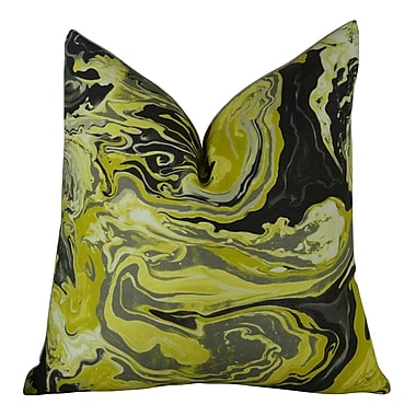 Plutus Brands Medici Marble Ink Handmade Throw Pillow ; 24'' H x 24'' W