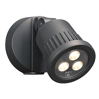 PLC Lighting Ledra 1-Light Outdoor Spotlight; Bronze