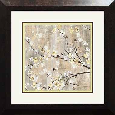 Winston Porter 'Pearls in Bloom I' Framed Painting Print; 17.875'' H x 17.875'' W x 1.5'' D