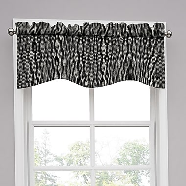 Traditions by Waverly Strands 52'' Curtain Valance; Tuxedo