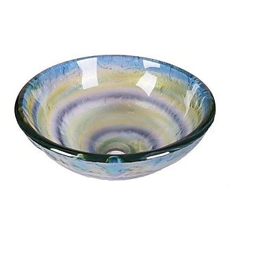 Jano Sanitary Element Abstract Tempered Glass Circular Vessel Bathroom Sink