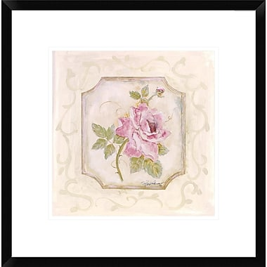 Global Gallery Rose In Season ll by Peggy Abrams Framed Painting Print; 18'' H x 18'' W x 1.5'' D