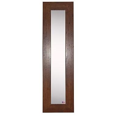 Rayne Mirrors Molly Dawn Dark Walnut Rustic Mirror Panels (Set of 2); 25.5'' H x 9.5'' W x 0.75'' D