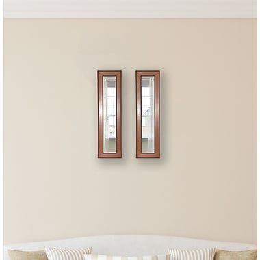 Rayne Mirrors Molly Dawn Western Rope Mirror Panels (Set of 2); 28.5'' H x 14.5'' W x 0.75'' D