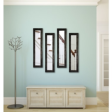 Rayne Mirrors Molly Dawn Black Smoke Mirror Panels (Set of 4); 37.5'' H x 9.5'' W x 0.75 '' D