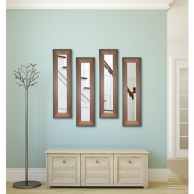 Rayne Mirrors Molly Dawn Timber Estate Mirror Panels (Set of 4); 39.5'' H x 11.5'' W x 0.75'' D