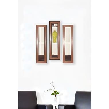 Rayne Mirrors Molly Dawn Western Rope Mirror Panels (Set of 3); 34.5'' H x 8.5'' W x 0.75'' D