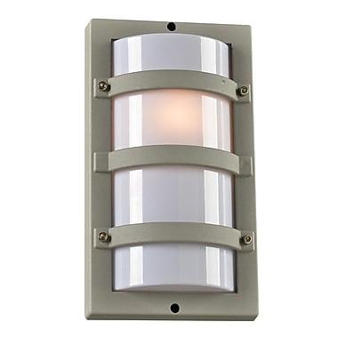 PLC Lighting SPA 1-Light Outdoor Flush Mount; Silver