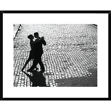 Global Gallery Dancers Performing the Tango Framed Photographic Print; 24'' H x 30'' W x 1.5'' D