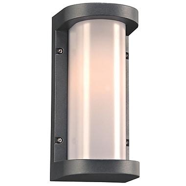 PLC Lighting Vivace 1-Light Outdoor Flush Mount; Bronze