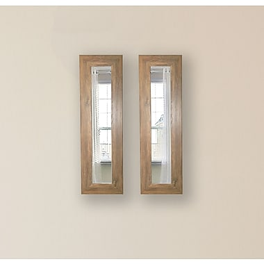 Rayne Mirrors Molly Dawn Brown Barnwood Mirror Panels (Set of 2); 29.5'' H x 15.5'' W x 0.75'' D