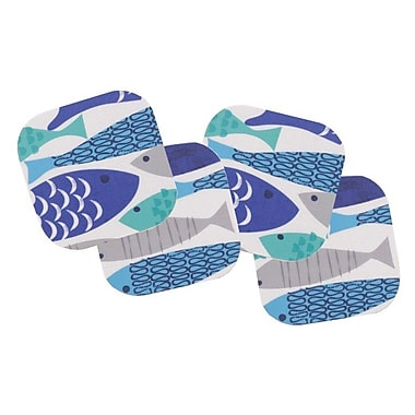 The Designs of Distinction Aqua Fish Laminated Coaster (Set of 4)