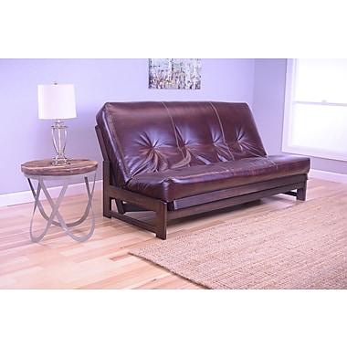 Kodiak Furniture Aspen Futon and Mattress; Oregon Trail Java