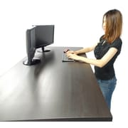 Canary Products 60 x 30 Desk Top in Black-Brown