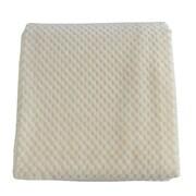 De Moocci Plush Jacquard Throw Blanket; Cream