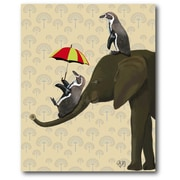 Courtside Market 'Penguin and Elephant' Painting Print on Wrapped Canvas