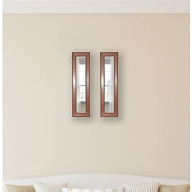Rayne Mirrors Molly Dawn Western Rope Mirror Panels (Set of 2); 34.5'' H x 8.5'' W x 0.75'' D