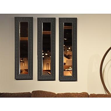 Rayne Mirrors Molly Dawn Dark Embellished Mirror Panels (Set of 3); 39.5'' H x 11.5'' W x 1.25'' D