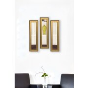 Rayne Mirrors Molly Dawn Vintage Gold Mirror Panels (Set of 3); 27.5'' H x 9.5'' W x 1.25'' D