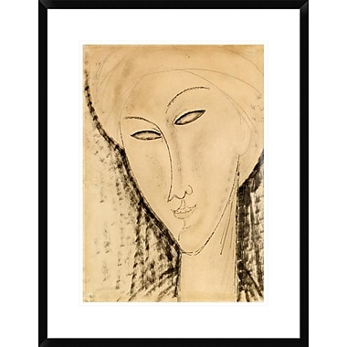 Global Gallery Tete De Femme by Amedeo Modigliani Framed Painting Print; 28'' H x 21.5'' W x 1.5'' D